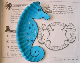 seahorse craft, beach crafts