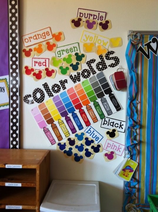 Classroom Decoration Colors ~ Vocabulary cards word wall ideas