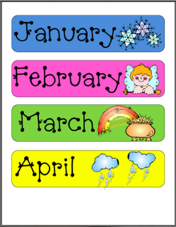 months of the year printable (laminate have kids practice putting ...