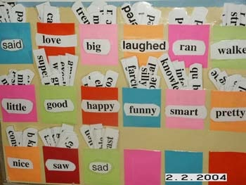 Vocabulary cards word wall ideas for Decoration thesaurus