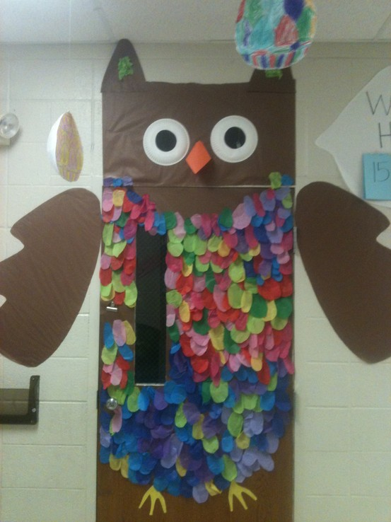 Owl Classroom Door Decorations ~ Back to school wreaths and door decorations