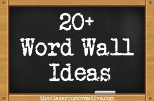 word wall ideas