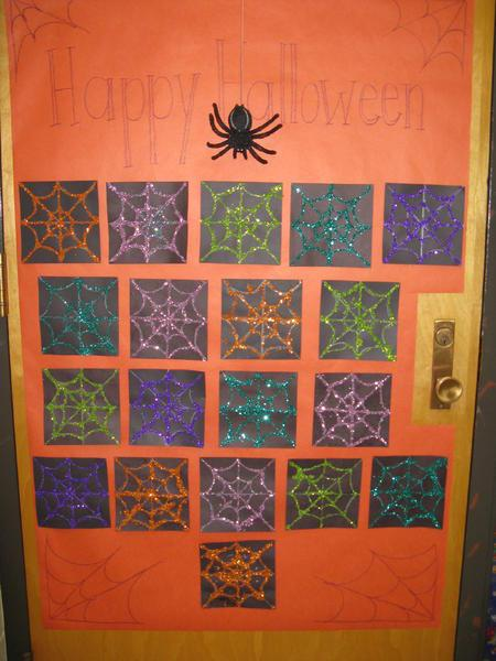 Classroom Halloween Decor ~ Halloween door decorations