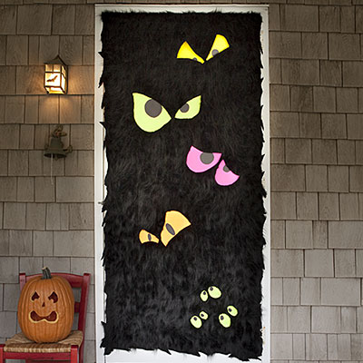 frankenstein door from mel designs - Creative Halloween Door Decorations