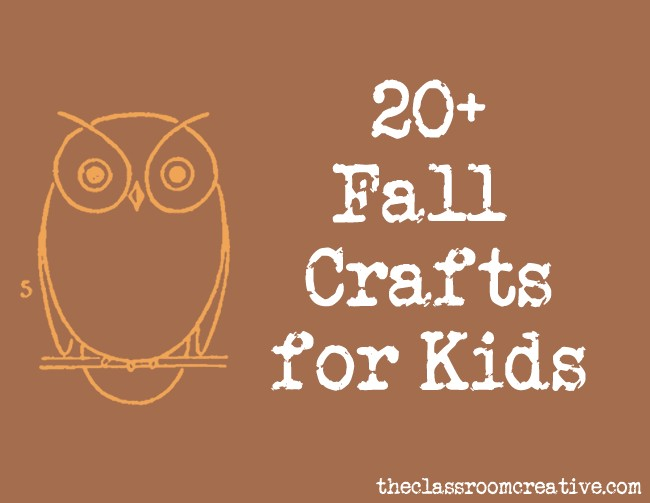 Kid Fall Craft Ideas Part - 44: The Classroom Creative