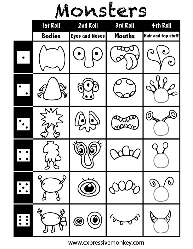 Monster Crafts: Make A Monster Worksheet At Alzheimers-prions.com