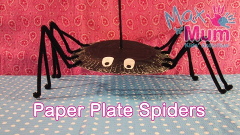 Halloween Paper Plate Craft Ideas. Max n Mumu0027s Spider. Pumpkin ... & Halloween Paper Plate Craft Ideas