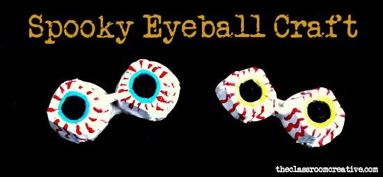 Halloween Eyeball Craft for Kids & A Halloween Link Party