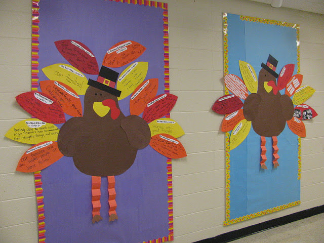 November thanksgiving bulletin board ideas for Turkey template for bulletin board