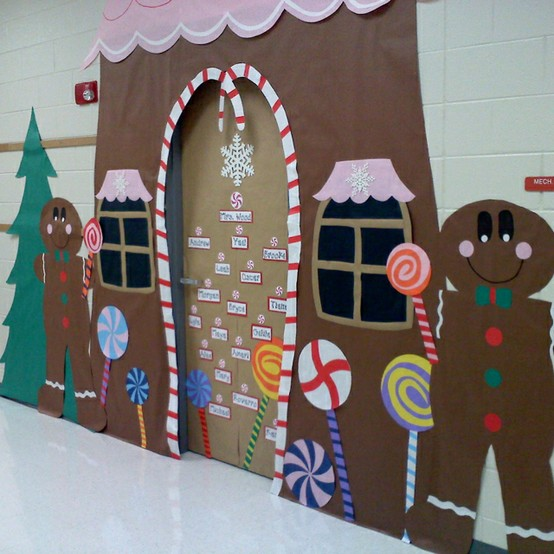 Christmas bulletin boards door decorations for Door xmas decoration ideas