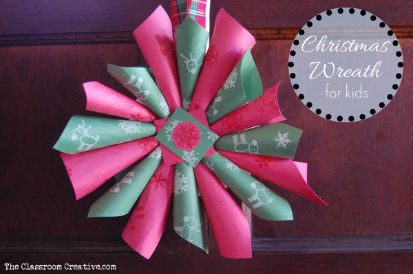 Christmas Wreath Craft Idea for Kids