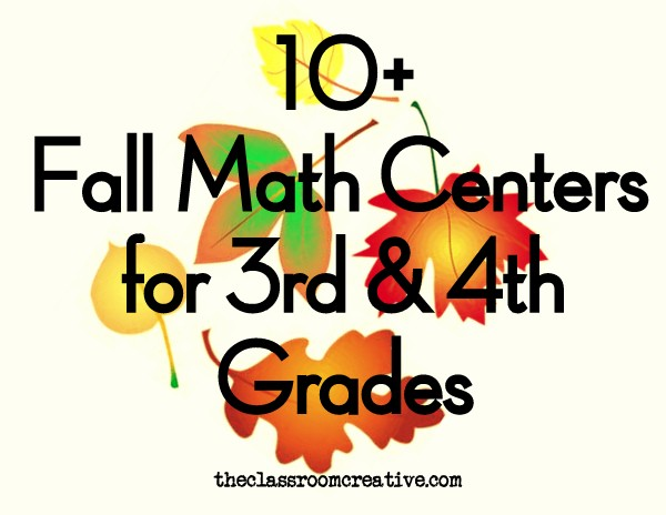 fourth grade fall math centers, third grade fall math centers