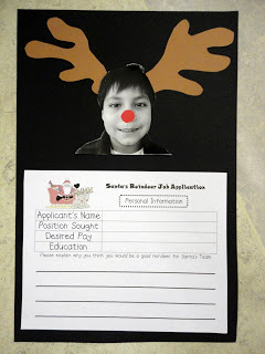 Christmas fill in the blank activity from Clever Classroom via TpT