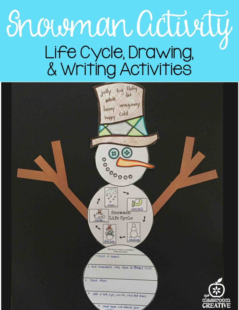 snowman life cycle literacy activity