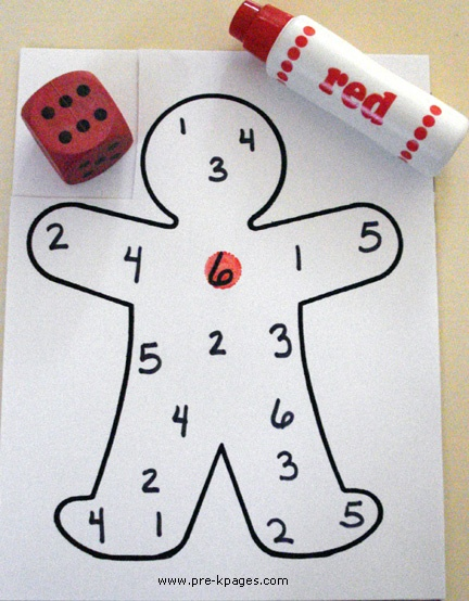 math games for christmas preschool