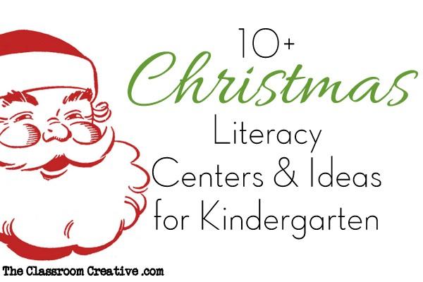 Christmas Literacy Centers & Activities for Kindergarten