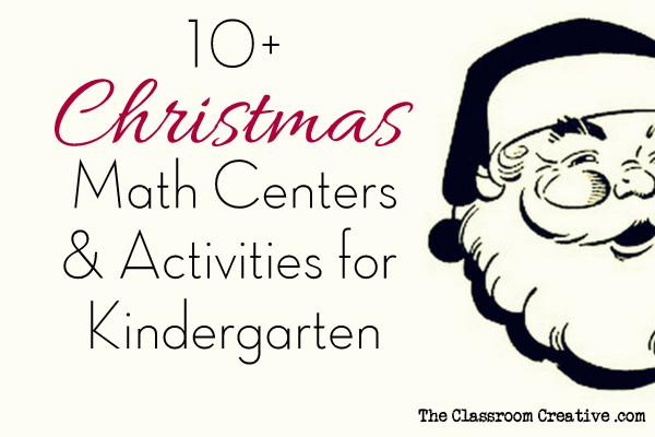 Christmas Math Centers & Activities for Kindergarten