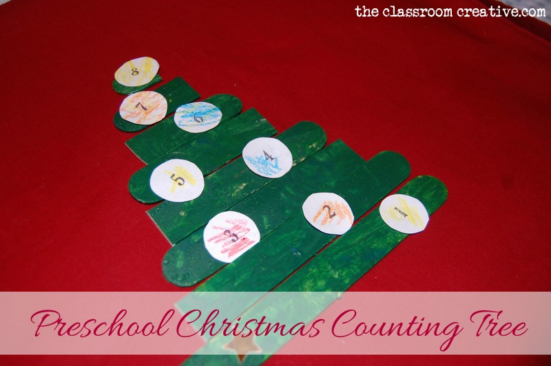 Preschool Christmas Tree Counting Activity