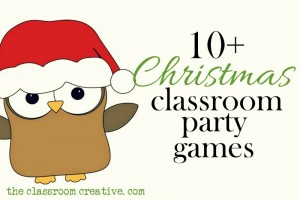 Christmas classroom party games