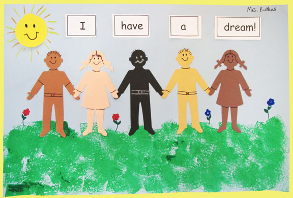 Martin Luther King Jr Crafts For Preschool Martin luther king bulletin