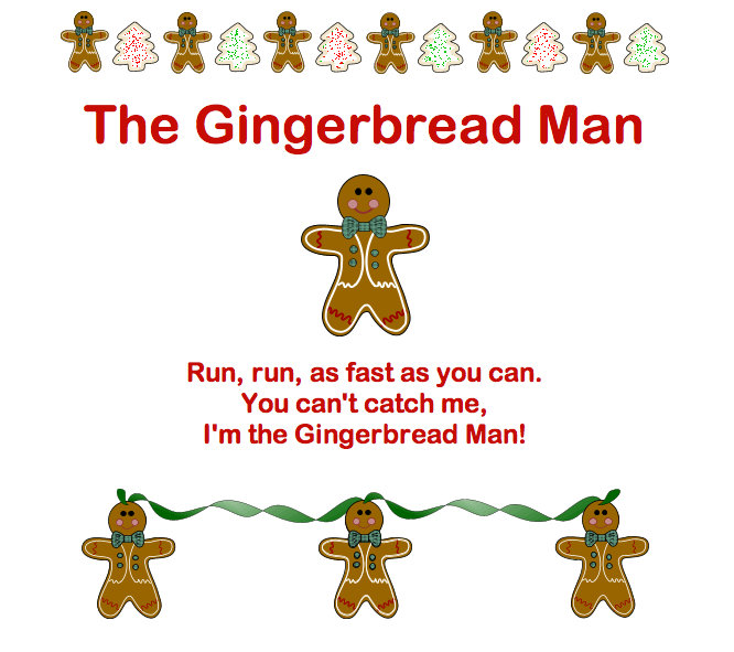 gingerbread man songs via the virtual vine