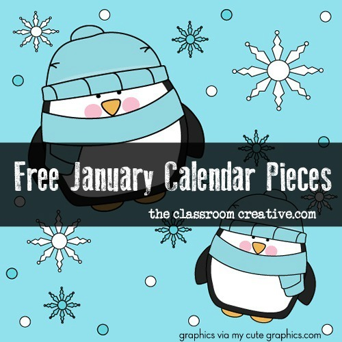 Free January Calendar Pieces