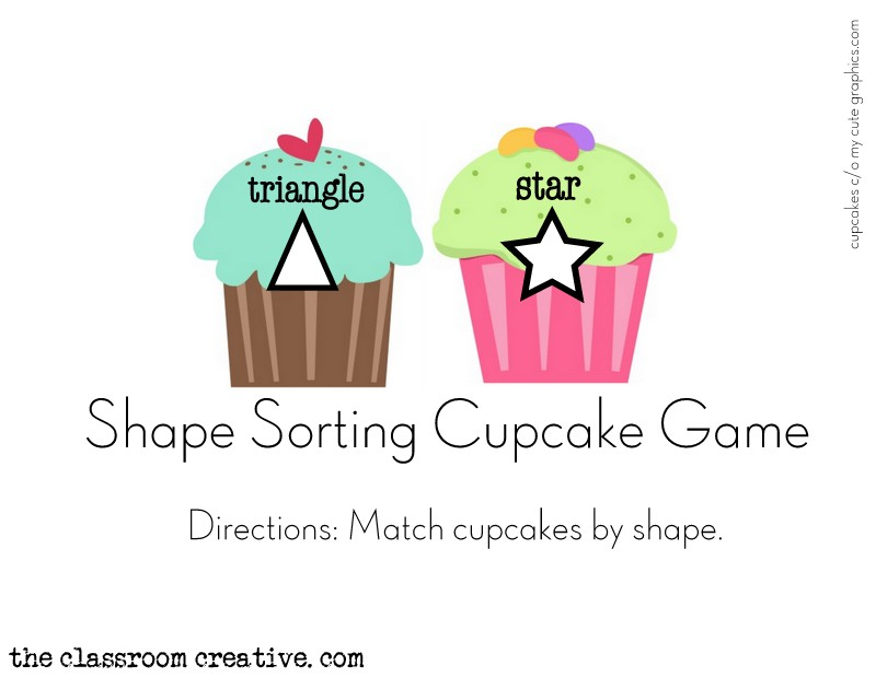 shape sorting file folder game preschool