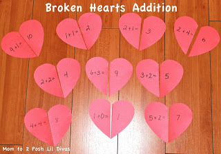 Kindergarten valentine math center ideas for Preschool crafts for february