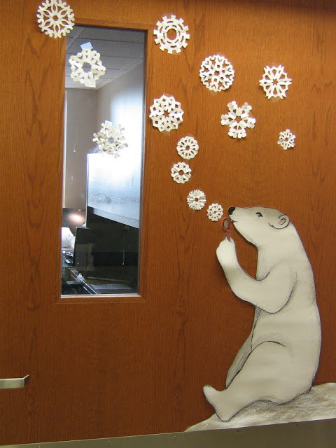 Winter Decorations For Preschool Classroom ~ Winter door decorations