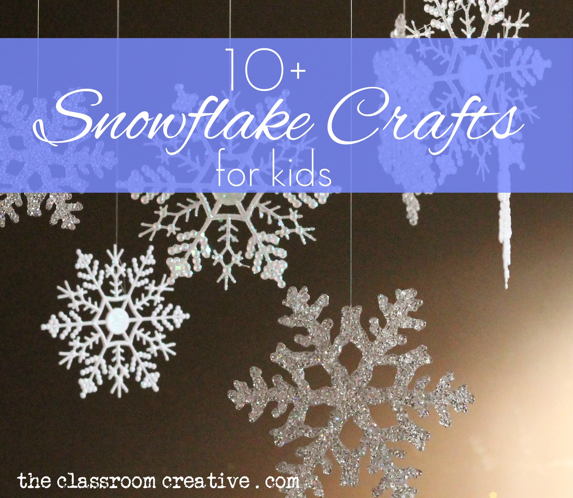 crafts cabin fever won t exist with this round up of fun snowflakes