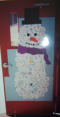 Winter door decorations for 3d snowman door decoration