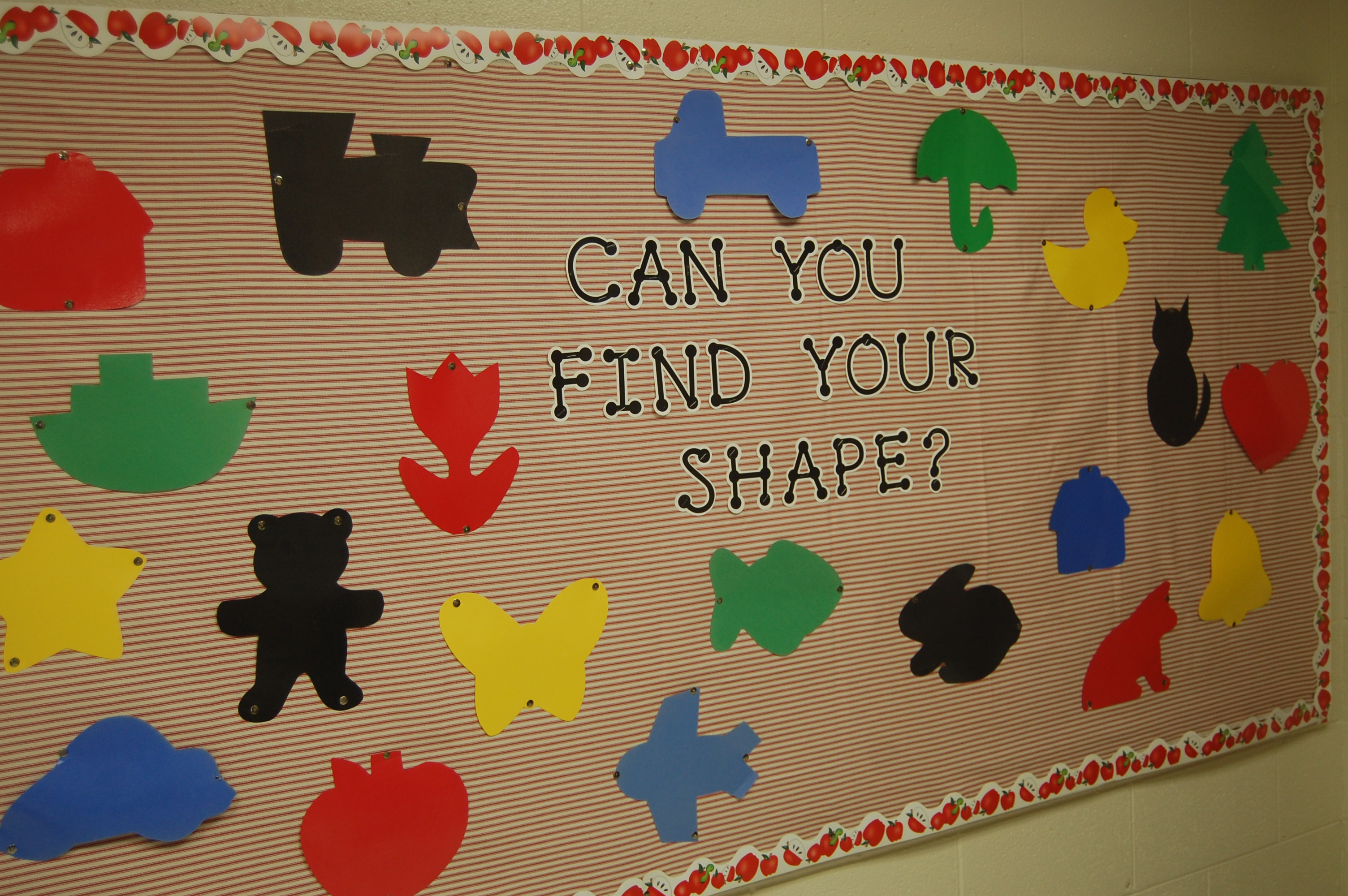Classroom Board Decoration For Preschool : Shapes bulletin boards