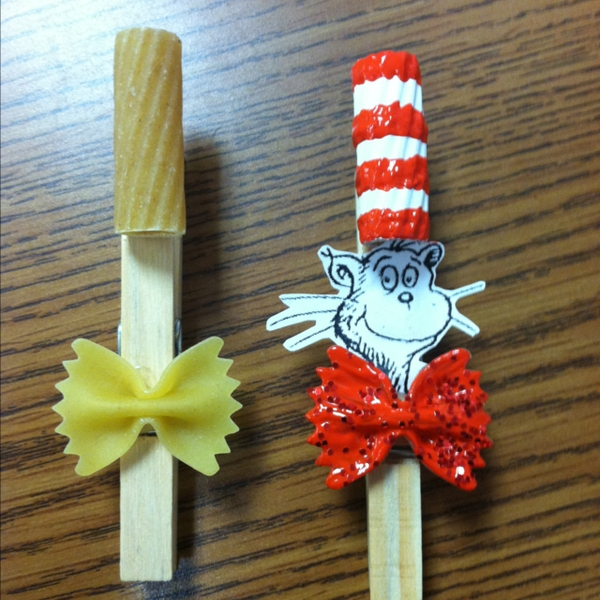 Cat In The Hat Clothespin Craft