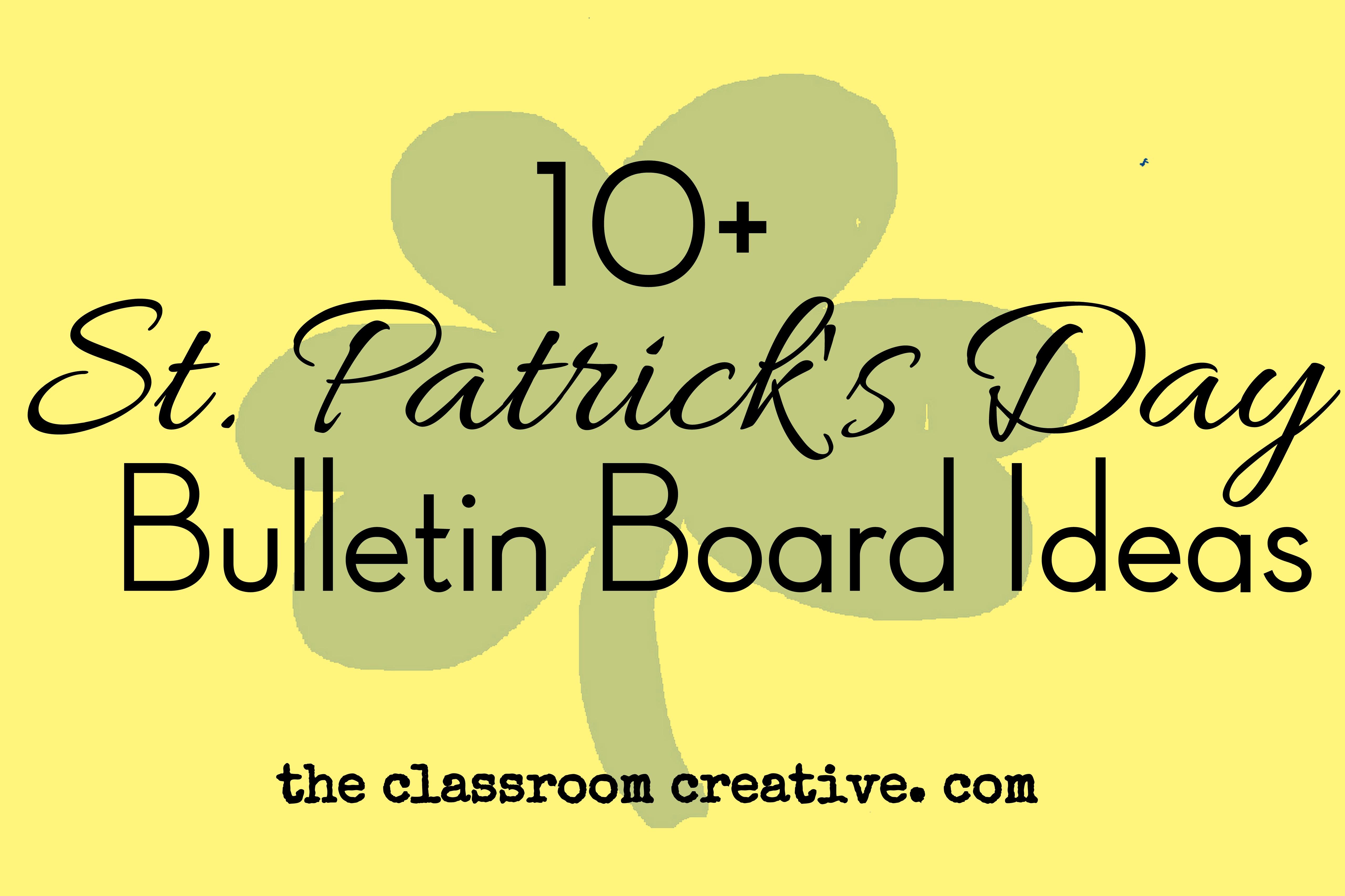 st patrick u0027s day bulletin boards