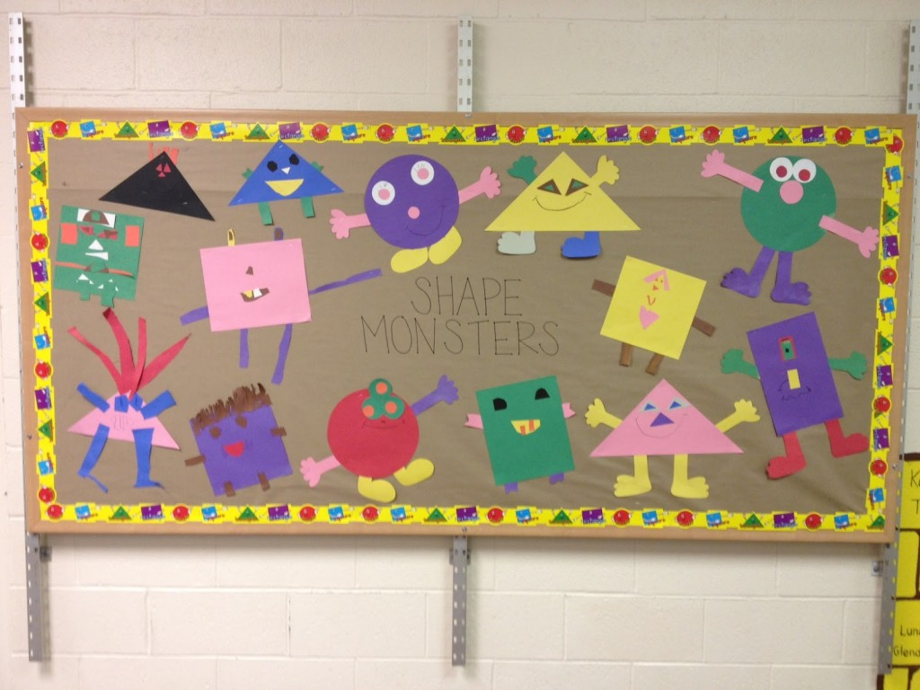 Classroom Board Ideas For Kindergarten ~ Shapes bulletin boards