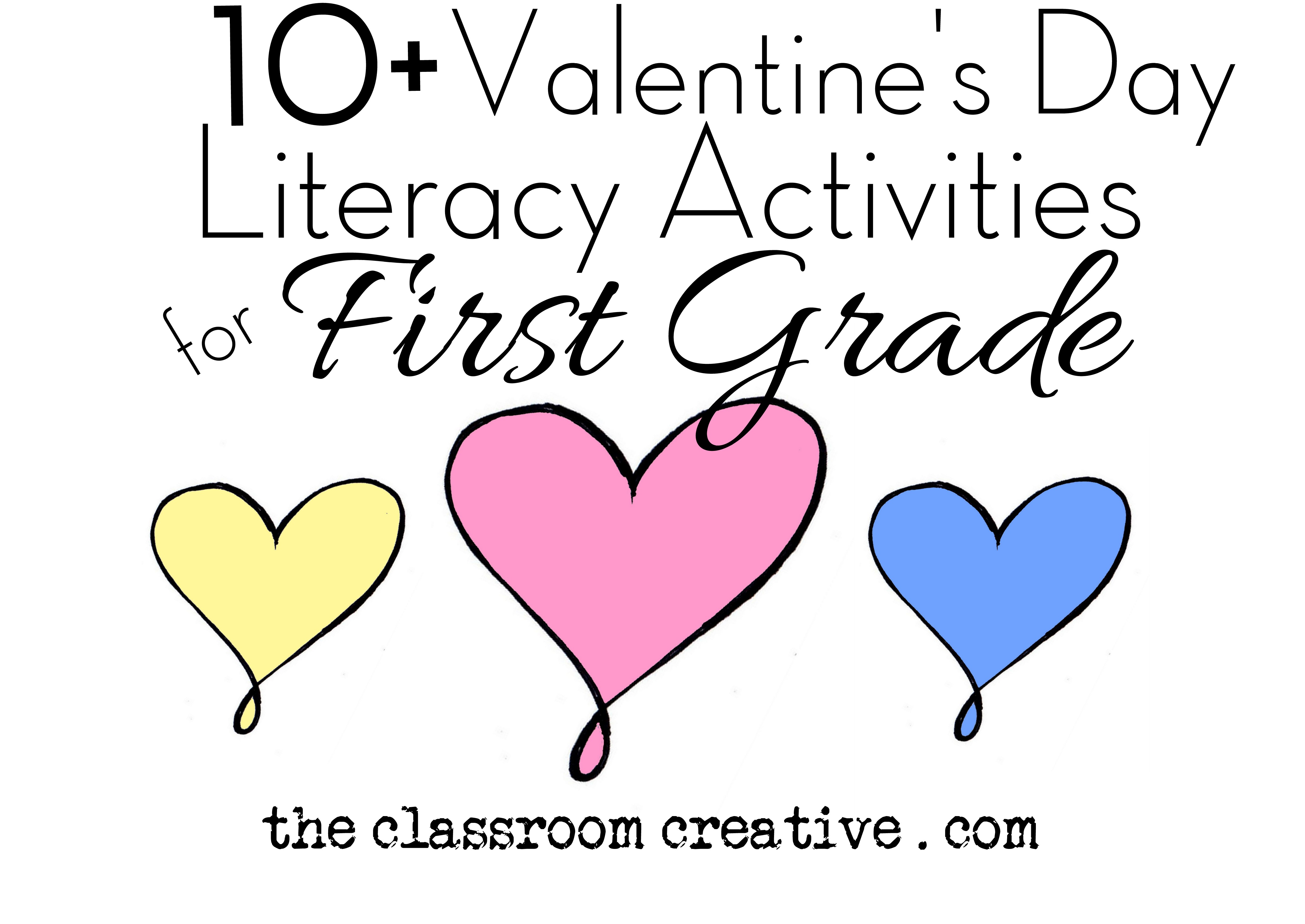 Valentines Day Literacy Activities for First Grade