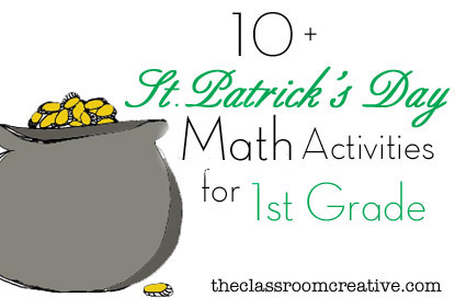 St. Patrick's Day Math Activities for First Grade
