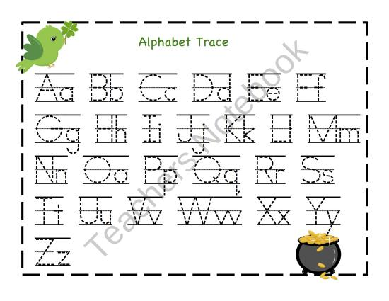 kindergarten tracing letters laptuoso