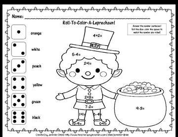 St. Patrick's Day Math Activities for Preschool