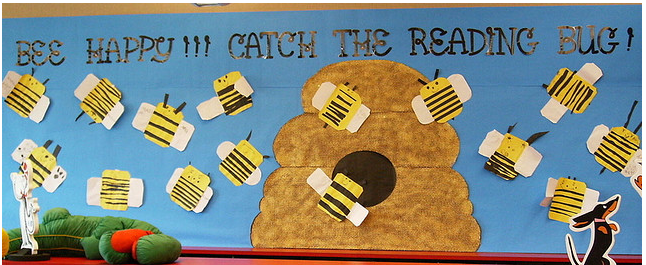 Flying High With Reading From Library Bulletin Boards