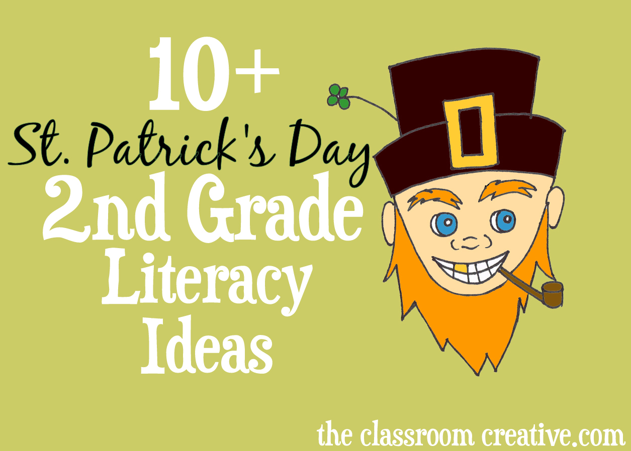 St. Patrick's Day Second Grade Literacy Centers and Ideas -001