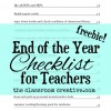 end of the year teacher checklist