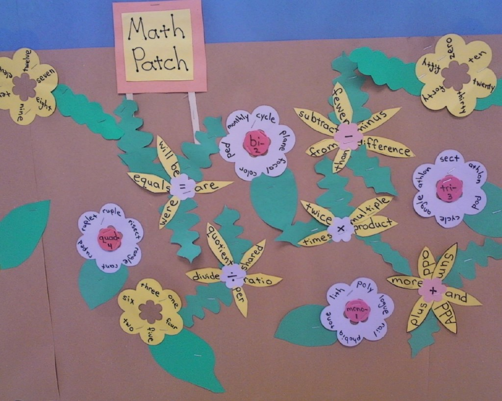 May flowers bulletin board idea