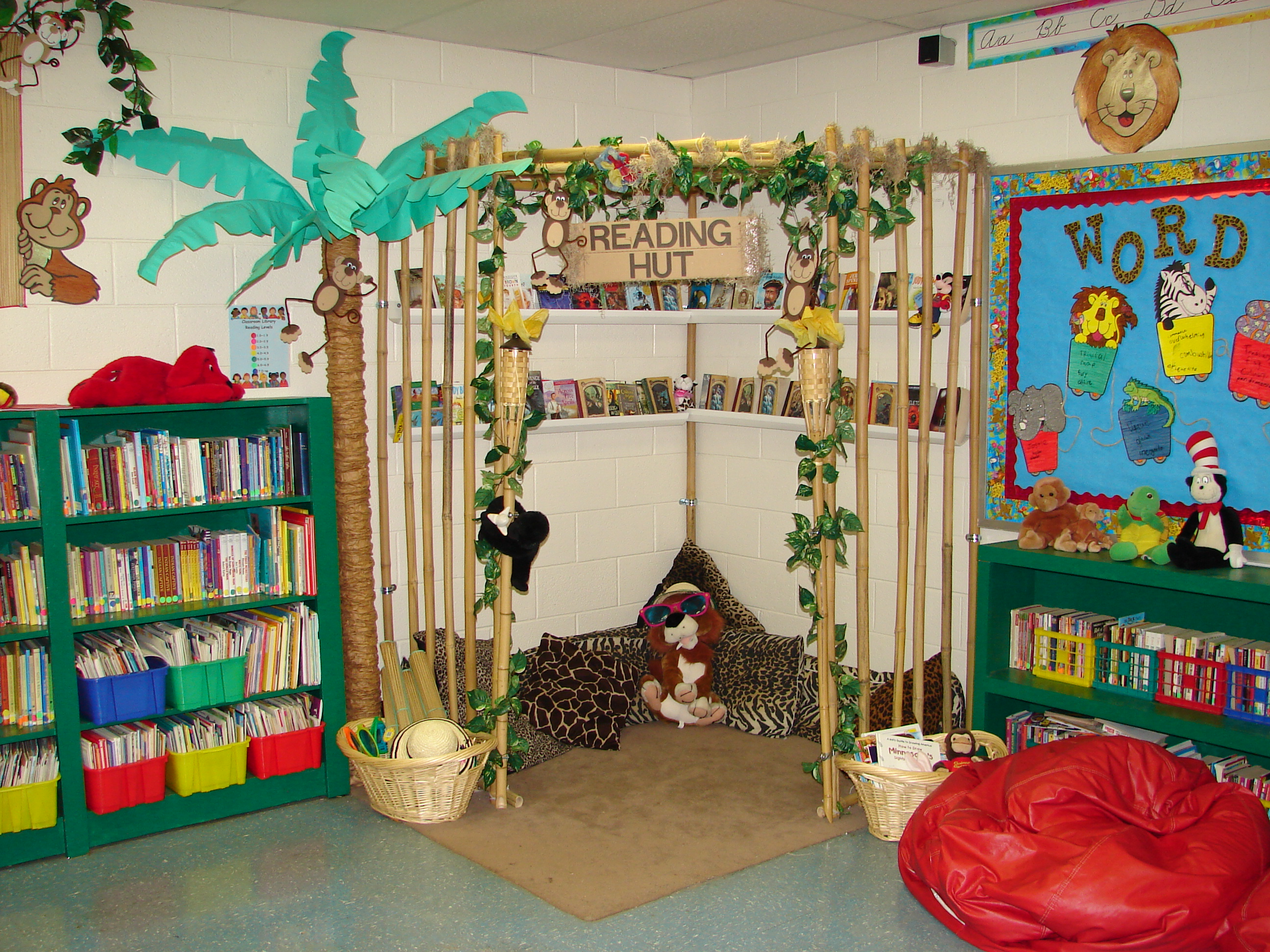 Classroom Library Decor ~ Summer reading nooks for kids