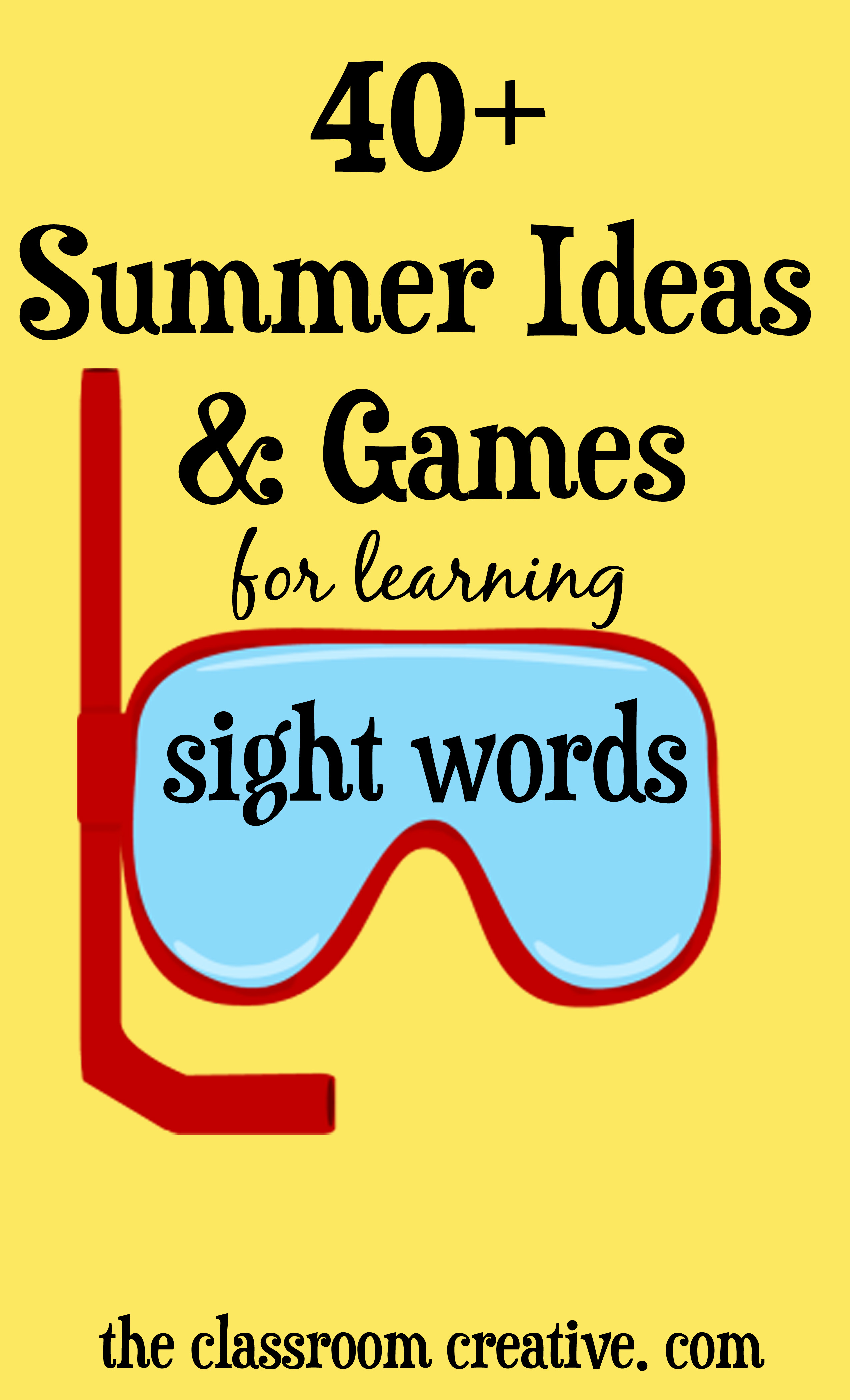 sight  Activities word and activities Summer Word Sight Ideas and