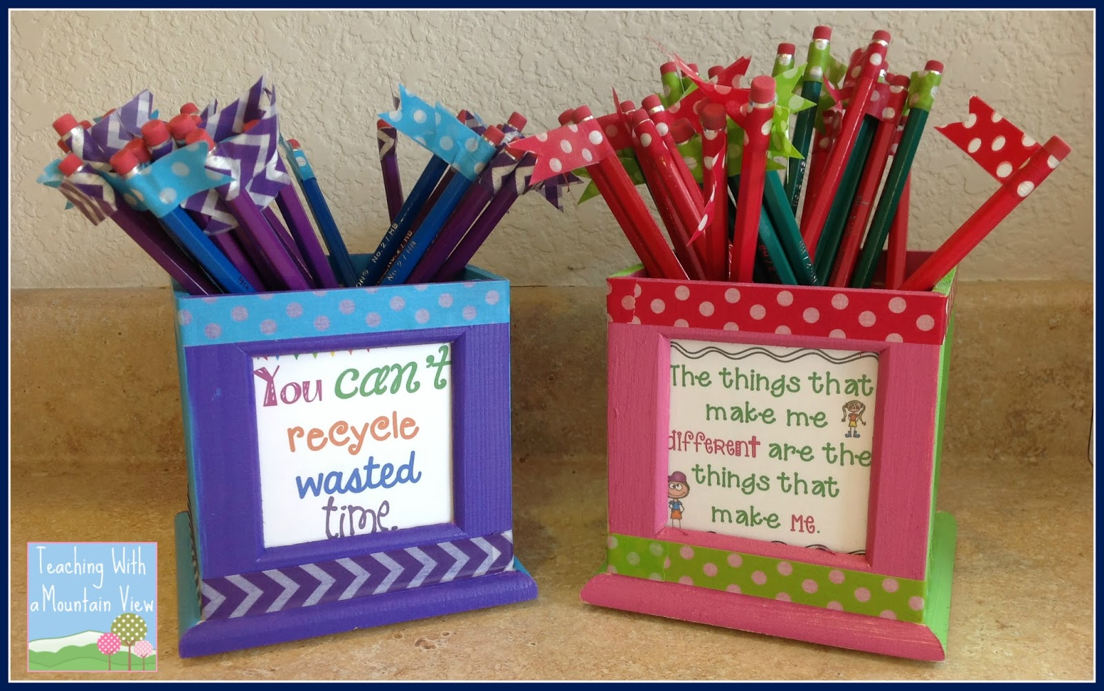 Classroom Ideas Diy ~ Ideas for organizing and managing pencils in the classroom