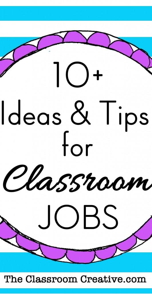 Classroom Job Ideas For Preschool ~ Classroom jobs chart tips ideas