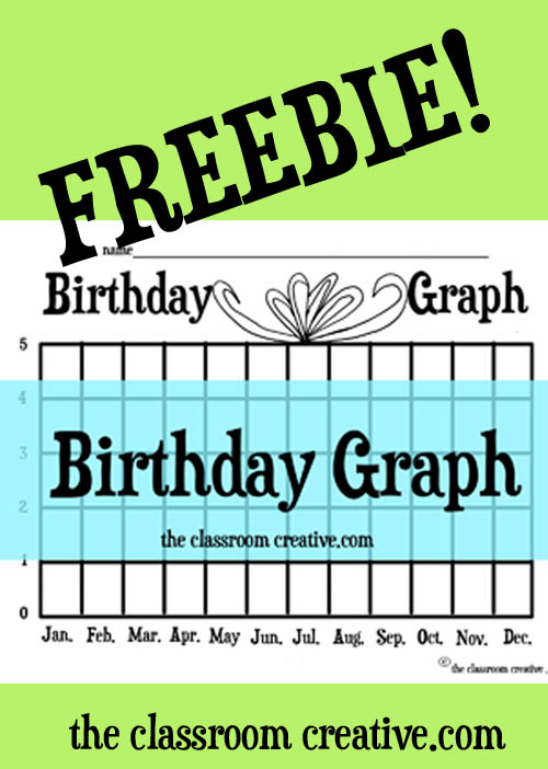 Birthday Graph Freebie on Thanksgiving Bulletin Board Google