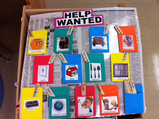 Classroom Job Ideas For Kindergarten : Classroom jobs chart tips ideas