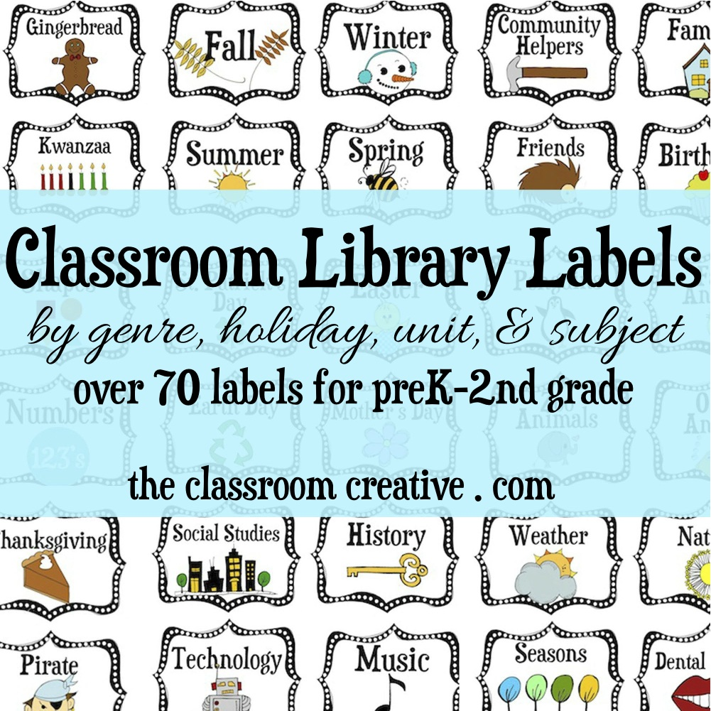 Ideas for building a classroom library on a budget for Room labels